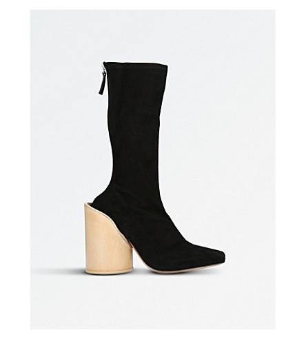 JACQUEMUS Saintes suede heeled ankle boots (Black