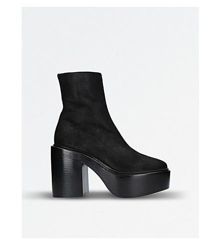 A F VANDEVORST Suede platform ankle boots (Black