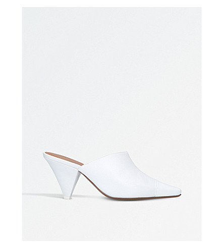 NEOUS Psycho leather mules (White