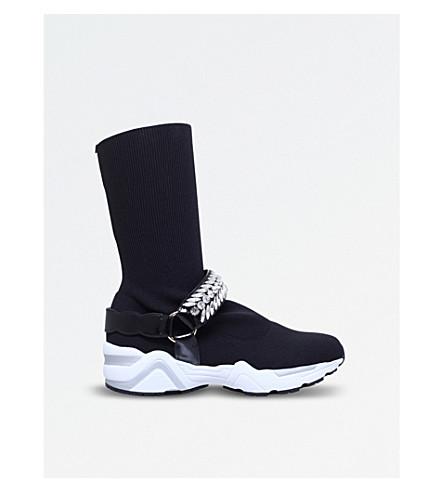 SUECOMMA BONNIE Jewel sock knitted boots (Black