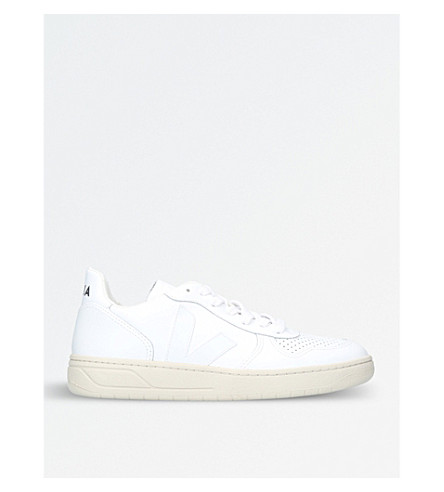 VEJA V-10 extra white leather trainers (White