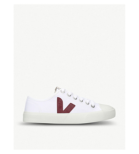 VEJA Wata canvas trainers (White/red
