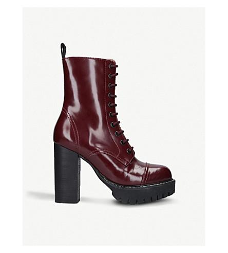 ALEXA CHUNG Heavy Tread leather platform boots (Wine