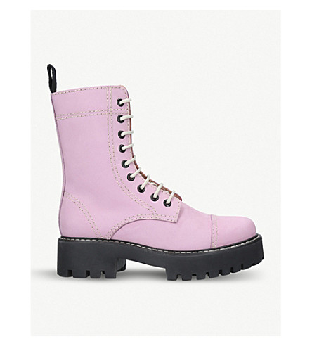 ALEXA CHUNG Heavy Tread leather boots (Lilac
