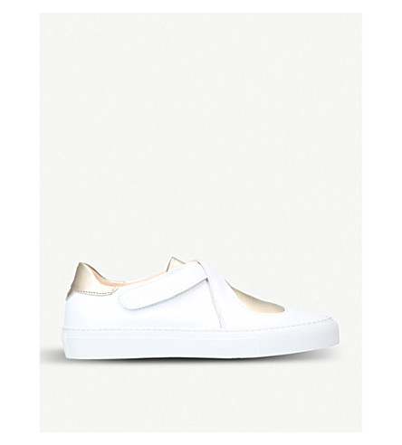 CAMILLA ELPHICK Lover heart-motif leather trainers (Gold+comb
