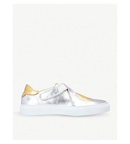 CAMILLA ELPHICK Lover heart-motif metallic-leather trainers (Metal+comb