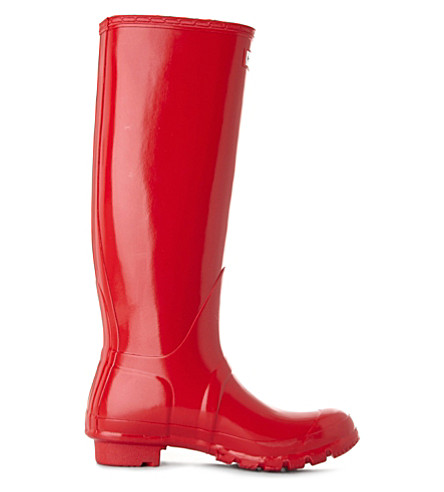 HUNTER Original Gloss wellies (Red