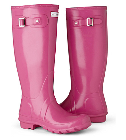 HUNTER Original Gloss wellies (Fushia