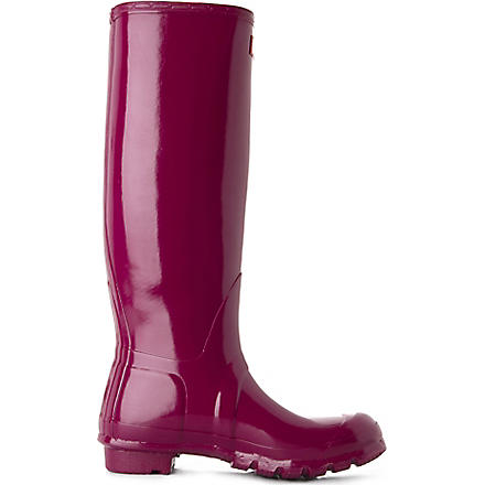 HUNTER Original Gloss wellies (Purple