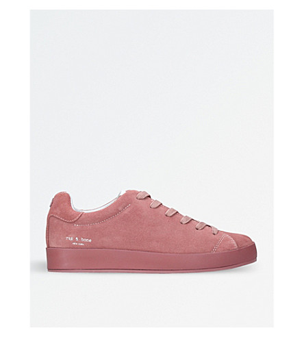 RAG AND BONE Rb1 suede low-top trainers (White/oth