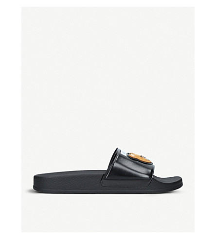 MOSCHINO Teddy rubber pool sliders (Black
