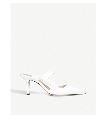 THE ROW Gala Twist leather mules (White