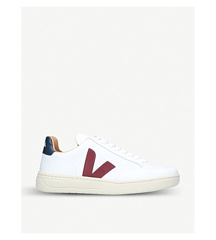 VEJA V-12 Bastille leather trainers (White/comb
