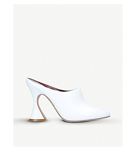 SIES MARJAN Elisa embossed-leather mules (White