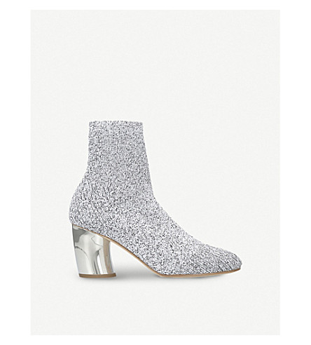PROENZA SCHOULER Metallic-knit ankle boots (White/oth