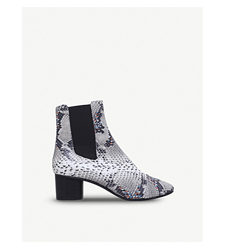 ISABEL MARANT Danelya snakeskin leather chelsea boots (Grey
