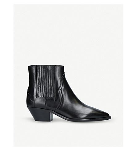 ISABEL MARANT Derlyn 皮革踝靴 (黑色