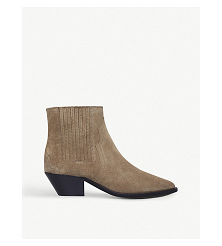 ISABEL MARANT Derlyn leather ankle boots (Beige