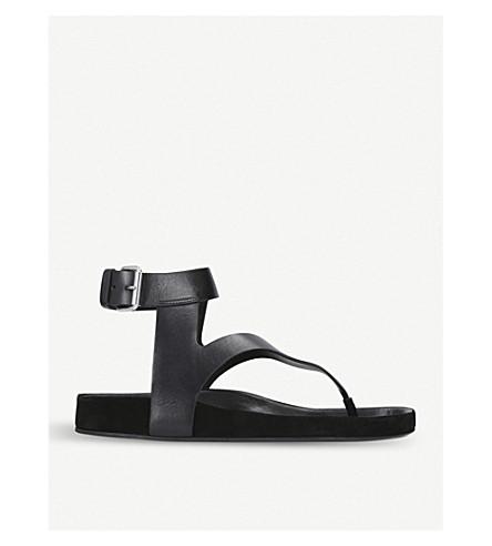 ISABEL MARANT Elwina leather sandals (Black