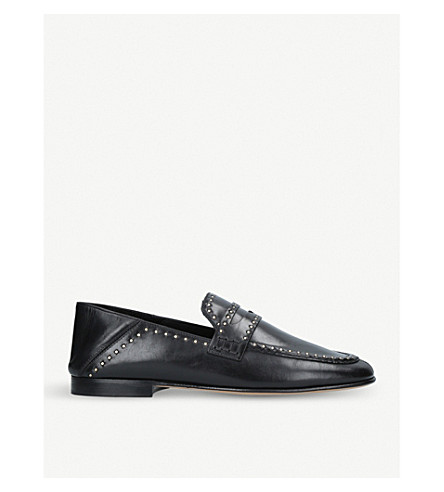 ISABEL MARANT Fezzy studded leather loafers (Black