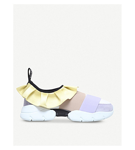 PUCCI City One suede and mesh trainers (Wine+comb