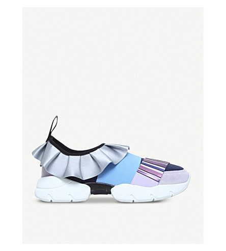 PUCCI City One suede and mesh trainers (Pale+blue
