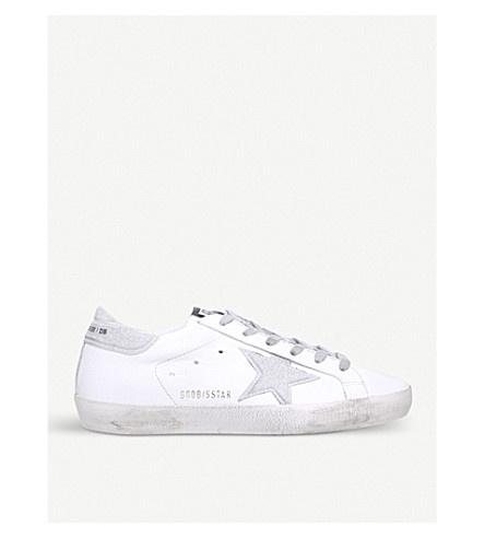 GOLDEN GOOSE Superstar E51 leather trainers (White/comb