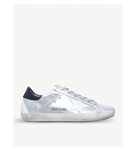 GOLDEN GOOSE Superstar E71 leather trainers (White/navy
