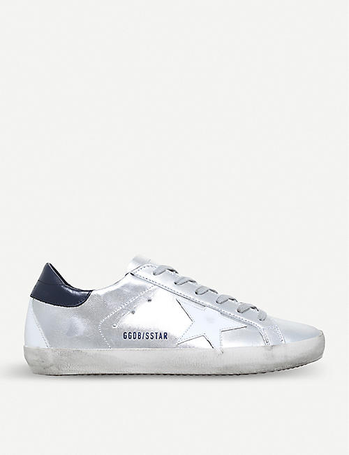 Sale - Starter Sequin Back Leather Trainers - Golden Goose Deluxe Brand Golden Goose fuYzB
