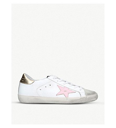 GOLDEN GOOSE Superstar e76 suede and leather trainers (White