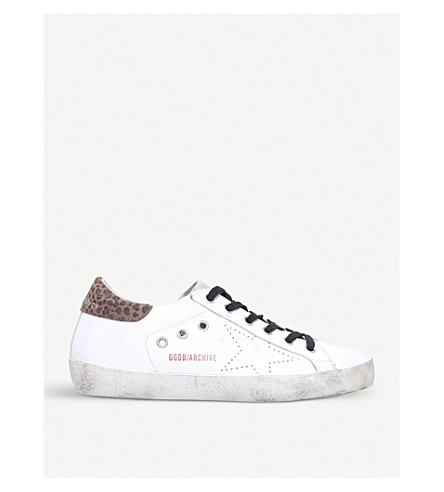 GOLDEN GOOSE Superstar F1 leather trainers (White/oth