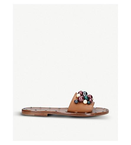 MARNI Samsy leather sandals (Red/dark