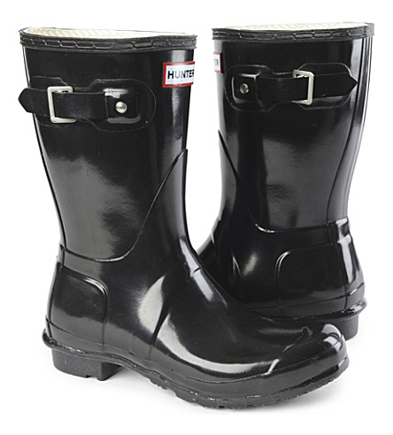 HUNTER Original Gloss short wellies (Black