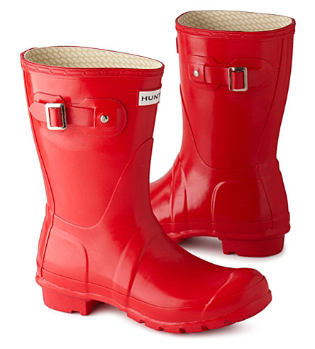 HUNTER Original Gloss short wellies (Red