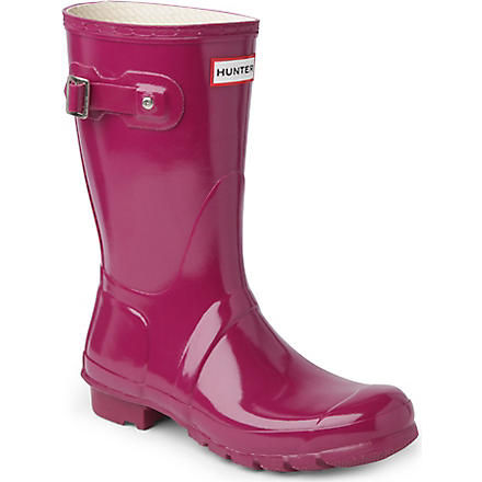 HUNTER Original Gloss short wellies (Viola