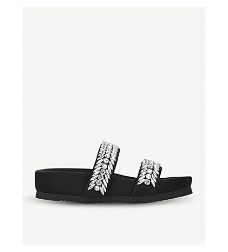SUECOMMA BONNIE Jewel embellished leather sandals (White/oth