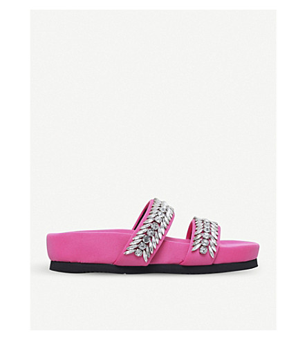 SUECOMMA BONNIE Jewel embellished leather sandals (Pale+pink