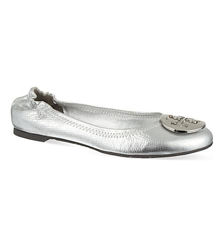 TORY BURCH Reva metallic pumps (Silver