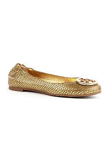 TORY BURCH Reva metallic leather pumps