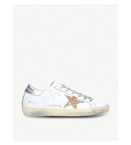 GOLDEN GOOSE Superstar leather trainers (White/oth