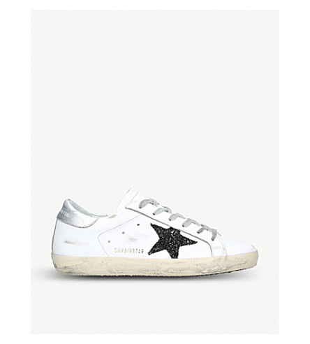 GOLDEN GOOSE Superstar leather trainers (White/blk