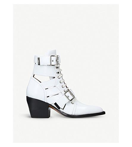 CHLOE赖利60真皮踝靴 (白色