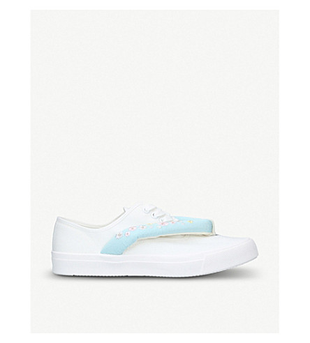 NEW NEU Hanoa canvas trainers (Pale+blue