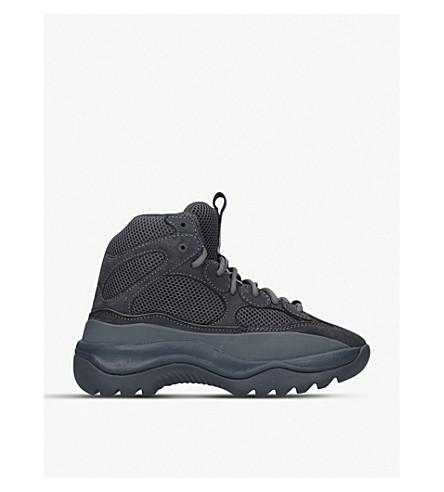 YEEZY Desert suede and mesh boots (Grey/dark