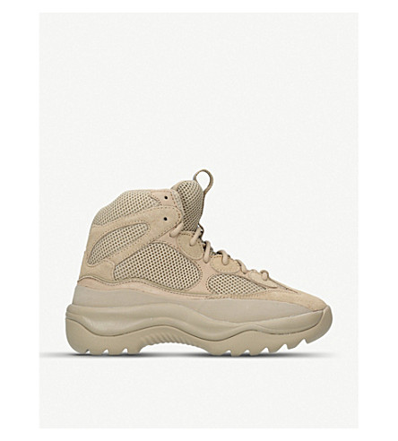 YEEZY Desert suede and mesh boots (Taupe