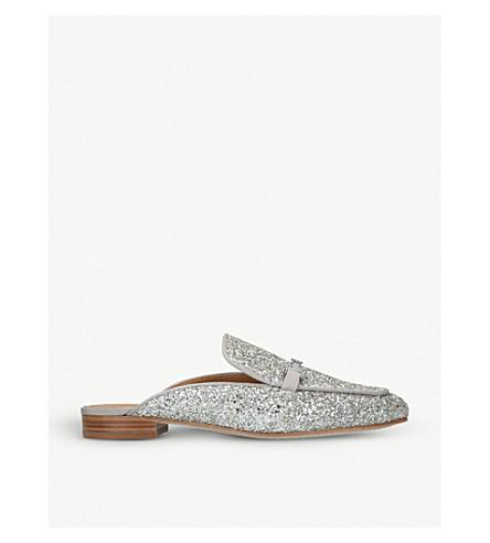 TORY BURCH Amelia glitter loafers (Silver