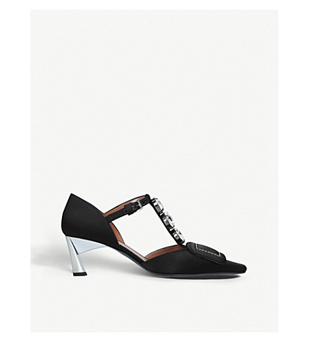 MARNI Embellished Black pumps satin jane Embellished satin MARNI mary UUfraqHRg
