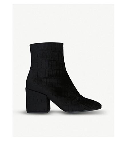 DRIES VAN NOTEN Velvet ankle boots (Black