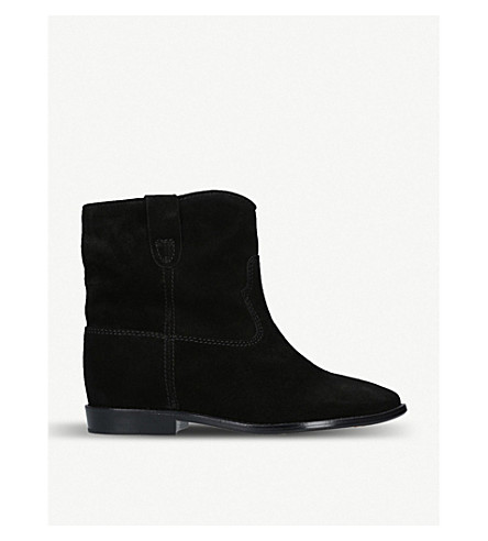 ISABEL MARANT 群集绒面革踝靴 (黑色
