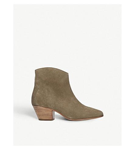ISABEL MARANT Dacken 绒面革西部踝靴 (其他